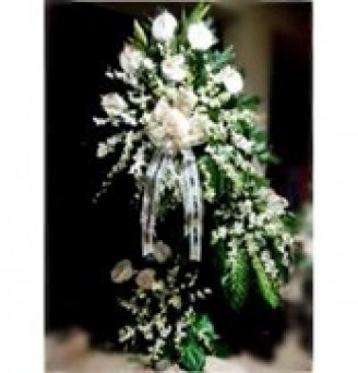 3 Layers All White Orchids Funeral Flower 2