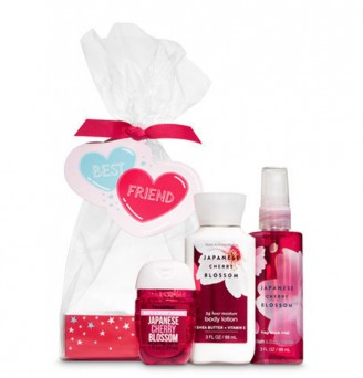 JAPANESE CHERRY BLOSSOM Best Friend Mini Gift Set by Bath and Bo