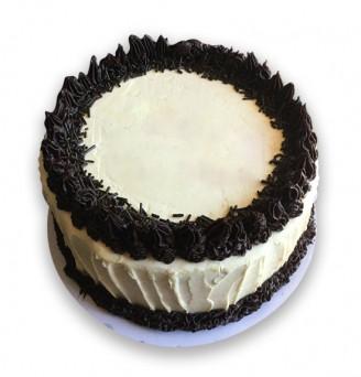 Chocolate Cake in Swiss Buttercream (Greeting Cake)