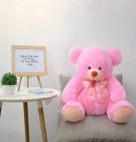Giorgio Pink Bear Stuffed Toy XL