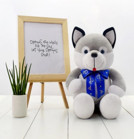 Kizmo Husky Dog Stuffed Toy