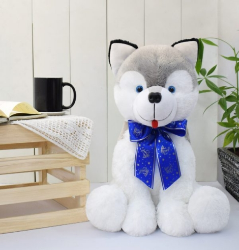 Mr. Smith Husky Dog Stuffed Toy Large