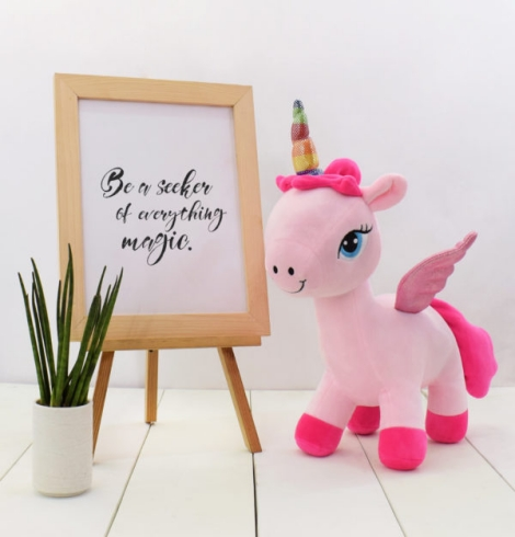 Bonnie Pink Unicorn Stuffed Toy Medium